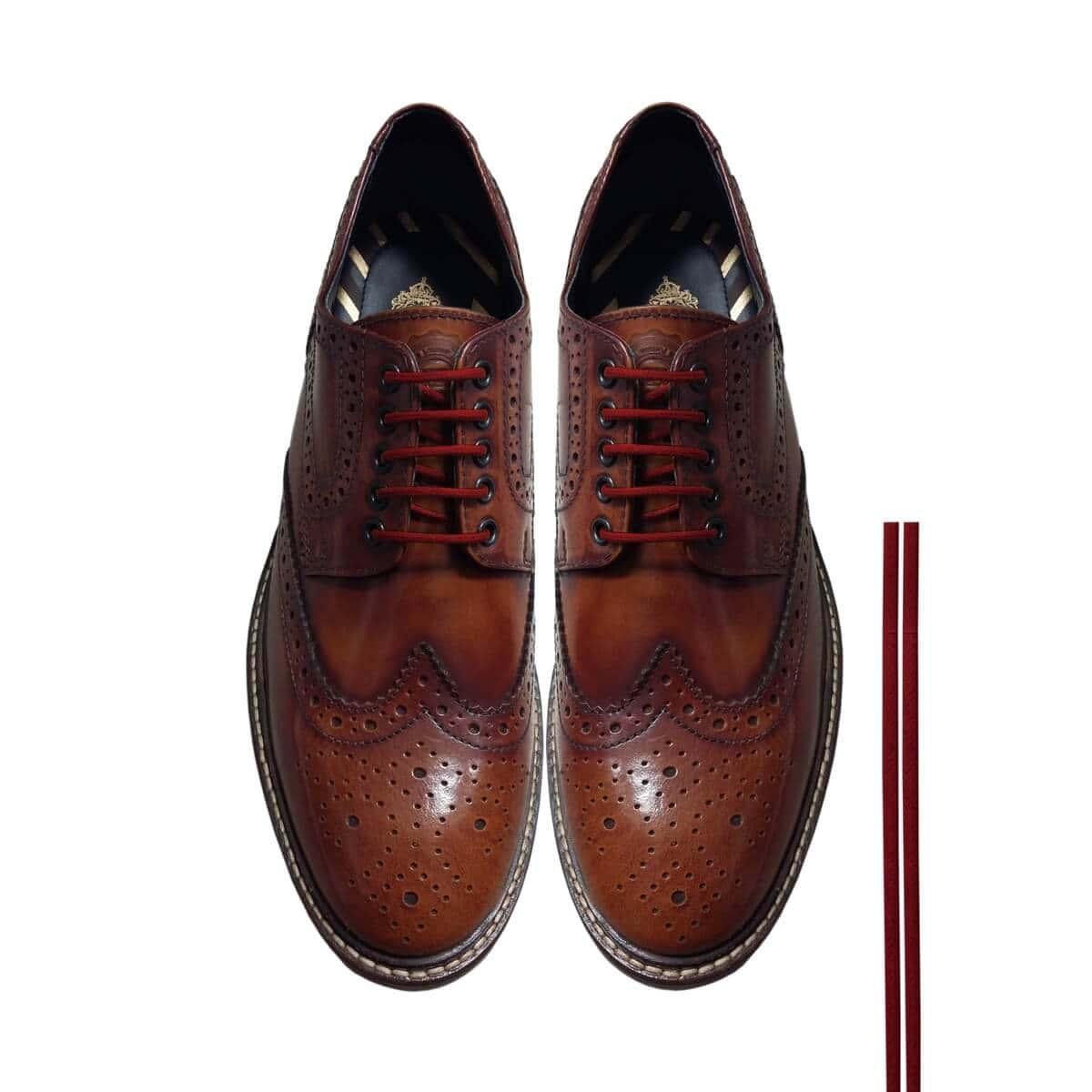 mejor servicio b5e43 4d513 Cordones Zapatos Granate Redondos Finos